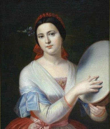 Gheorghe Tattarescu - Fata cu tamburina