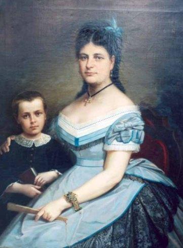 Gheorghe Tattarescu - Sotia pictorului cu fiul