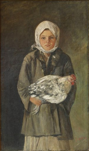 Ion Andreescu - Fetita cu gaina