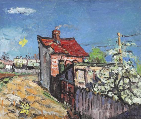 Ion Ţuculescu - Peisaj de primăvară