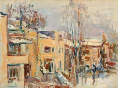 Ion Musceleanu - Iarna pe strada Pangratti