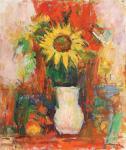 Ion Musceleanu - Natură statică cu floarea-soarelui