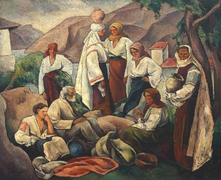 Ion Theodorescu-Sion - Compoziție cu motive românești.