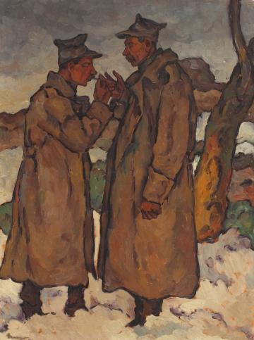 Ion Theodorescu-Sion - Doi camarazi 1917