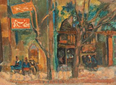 Iosif Iser - Cafenea turcească