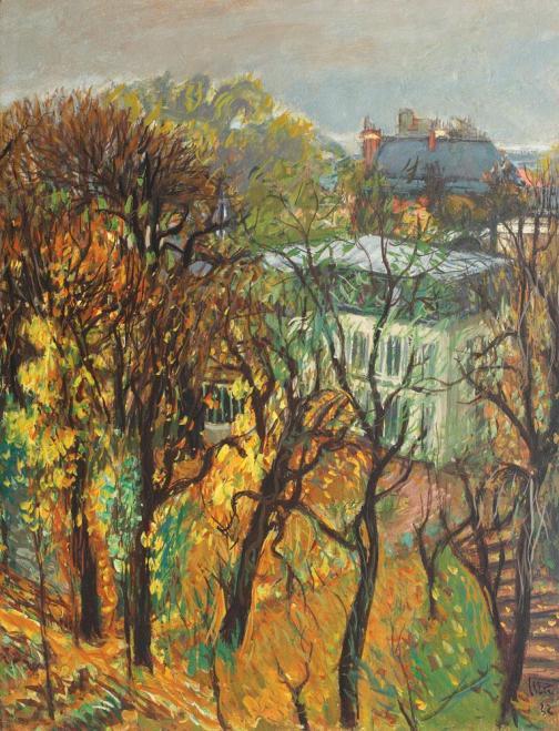 Iosif Iser - Vedere din atelier (Grădină pariziană pe Avenue Versailles)