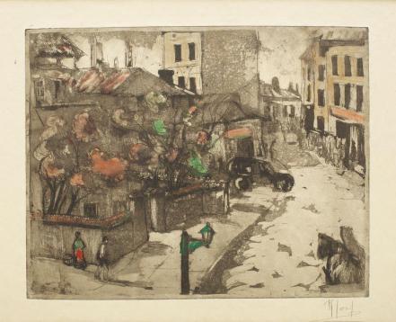 Iosif Rosenblut - Case vechi din Bucureşti (Strada Filitis)