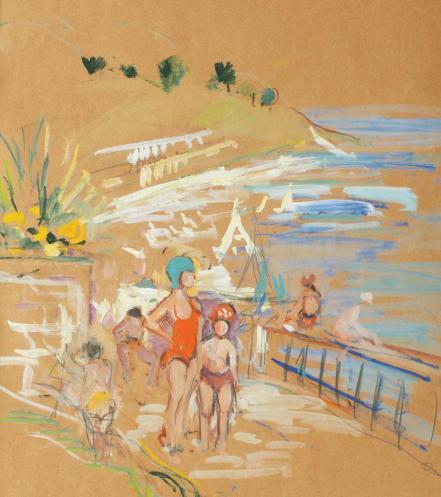 Iosif Rosenblut - Copii la plajă