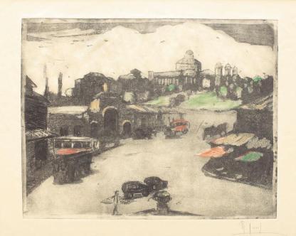 Iosif Rosenblut - Piața Bibescu Vodă (spre Dealul Mitropoliei)