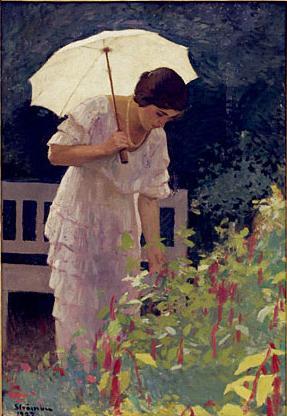 Ipolit Strambu - Femeie cu umbrela