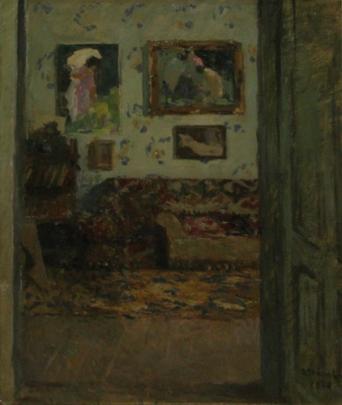 Ipolit Strambu - Interior in casa artistului