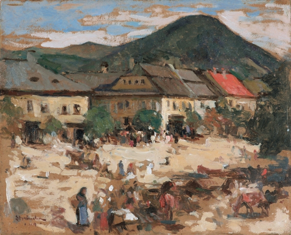 Ipolit Strambu - Piata din Baia Mare