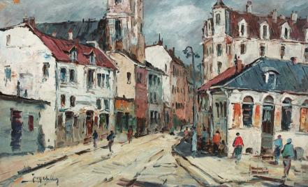 Jean Cheller - Stradă din Braşov