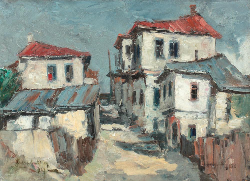 Jean Cheller - Uliță la Turnu Măgurele