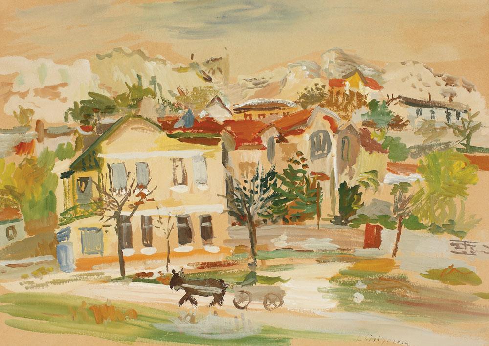 Lucian Grigorescu - Case și dealuri la Balcic