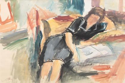 Lucian Grigorescu – Femeie în interior