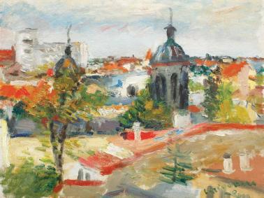 Lucian Grigorescu - Vedere din atelier (Acoperișuri din București)