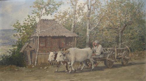 Ludovic Bassarab - Car cu boi pe langa troita