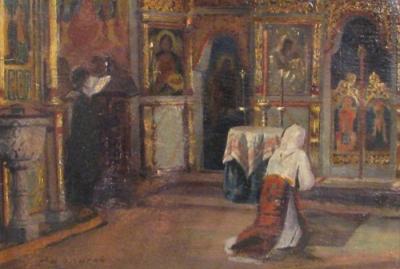 Ludovic Bassarab - Interior de biserica