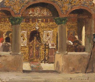Ludovic Bassarab - Interior de biserica2