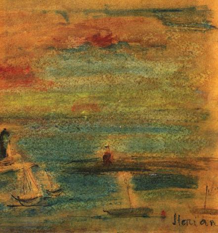 Margareta Sterian - Peisaj cu far