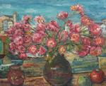 Marius Bunescu - Natură statică cu flori şi mere