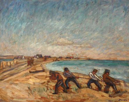 Marius Bunescu - Pescari trăgând năvodul