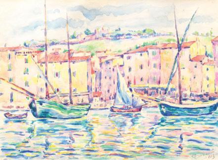 Nicolae Dărăscu - Bărci la Saint Tropez
