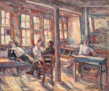 Nicolae Dărăscu - Cafeneaua lui Mamut