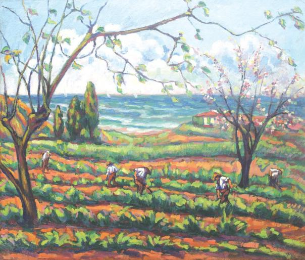 Nicolae Dărăscu - La munca câmpului (Peisaj din Grimaud)