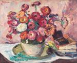 Nicolae Dărăscu - Natură statică cu flori şi lulea