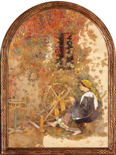 Nicolae Grant - Torcătoare (Alegorie a portului național)