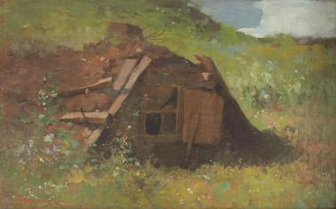Nicolae Grigorescu - Bordei în pădurea de pe Plaiu