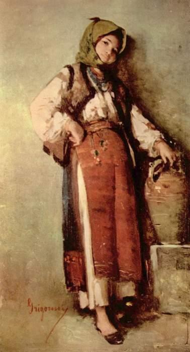Nicolae Grigorescu - Ţărancuţă cu ulcior