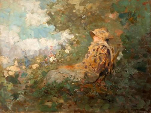 Nicolae Grigorescu - Femeie în grădină