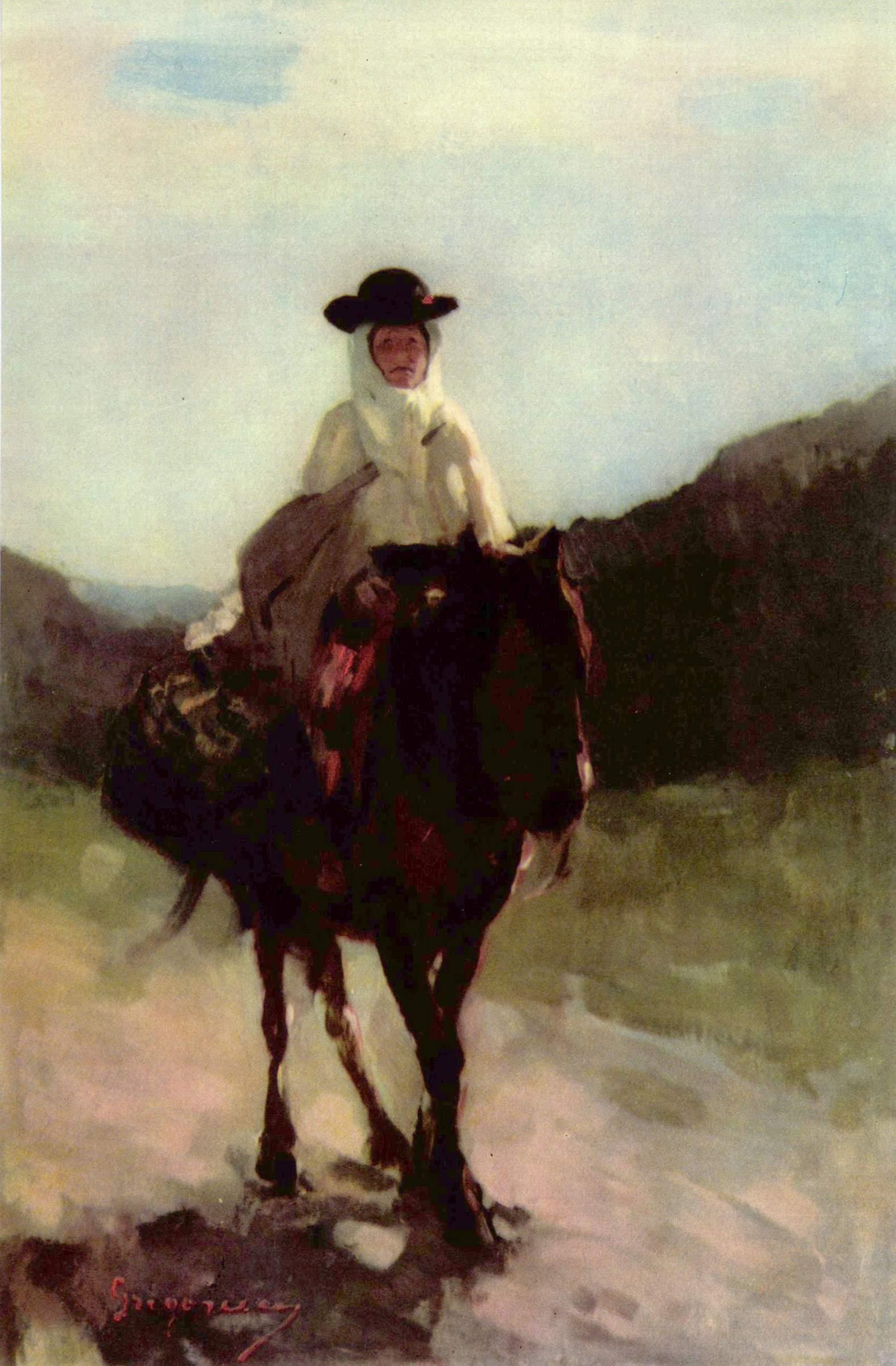 Nicolae Grigorescu - Femeie din Rucar