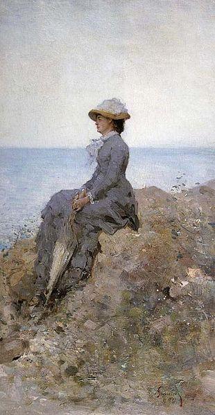 Nicolae Grigorescu - Femeie pe malul marii