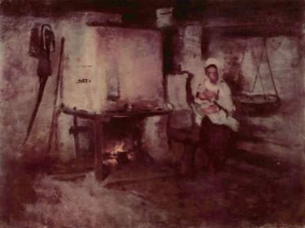 Nicolae Grigorescu - La gura vetrei in Rucar