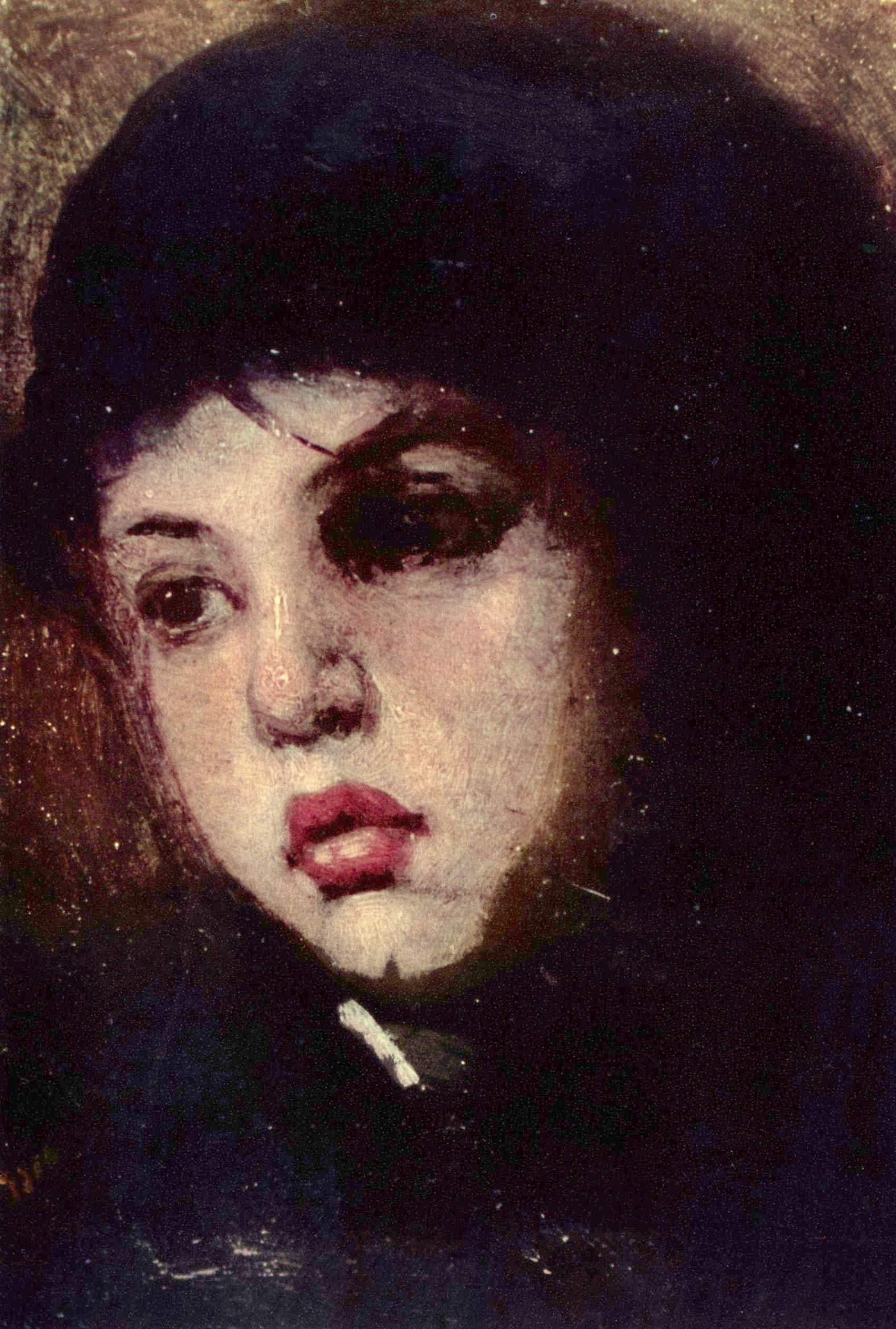 Nicolae Grigorescu - Mädchenkopf