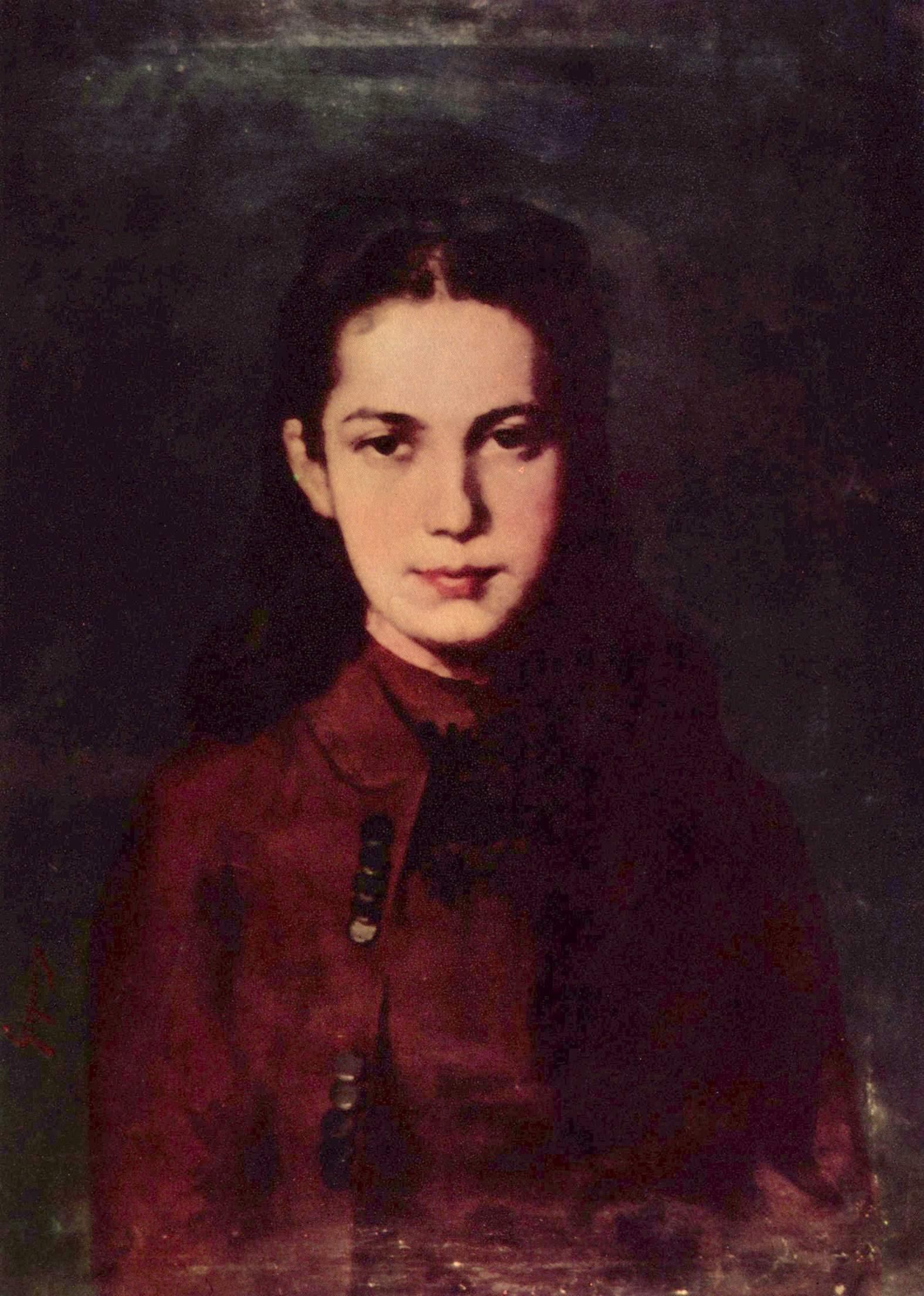 Nicolae Grigorescu - Porträt eines Mädchens
