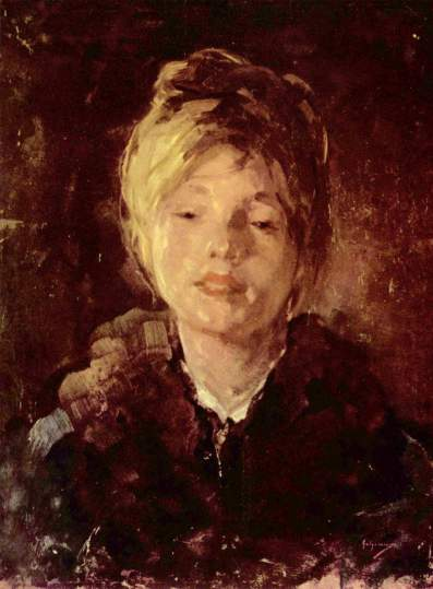 Nicolae Grigorescu - Porträt eines Mädchens.