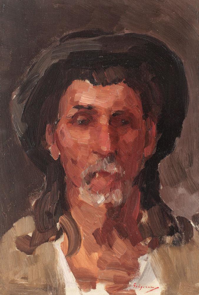 Nicolae Grigorescu - Portret de ţăran (Matei Rudaru)