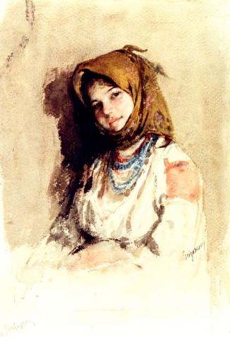 Nicolae Grigorescu - Portret de tarancuta