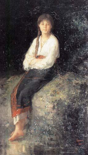 Nicolae Grigorescu - Rodica la parau