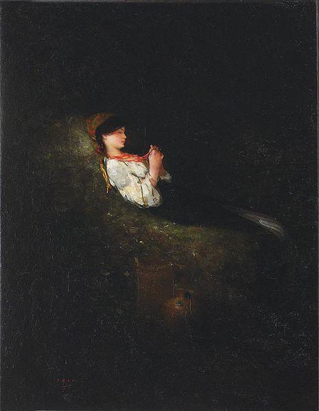 Nicolae Grigorescu - Tarancuta odihnindu-se