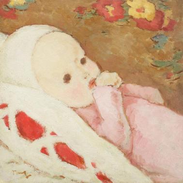 Nicolae Tonitza - Copil în rose