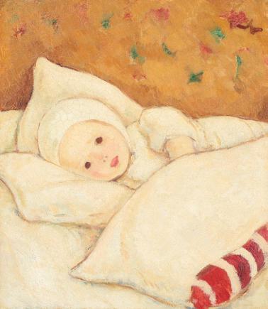 Nicolae Tonitza - Fetiţă în alb