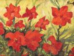 Nicolae Tonitza - Flori roșii de Clematis