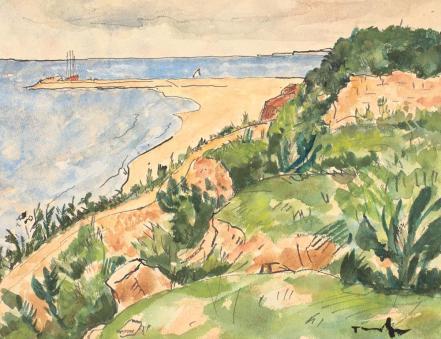 Nicolae Tonitza - Plajă la Mangalia