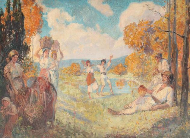 Nicolae Vermont - Alegoria toamnei ('Arta și vinul')